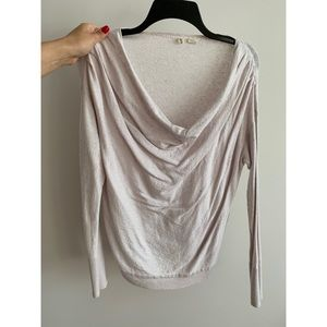 Anthropologie Lightweight Draped Sweater.